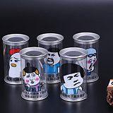 厂家直销透明塑料食品罐 PVC环保彩印盒子现货 通用包装罐可定制;