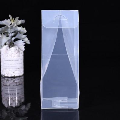 pet折叠包装盒厂家定做 环保透明带挂钩礼品收纳盒带logo定制批发