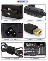 20V4.5A适用联想USB方口笔记本电源电源器thinkpad电脑充电器