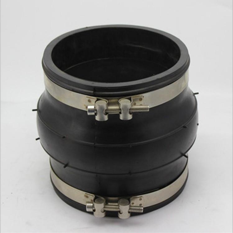 湖南卡箍式橡胶接头,耐酸碱橡胶软连接生产