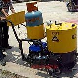 江汉小型裂缝补缝机手推式沥青加热泵的工作视频;