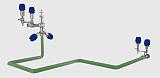 产品回收系统 猪头顶料系统 清管系统;