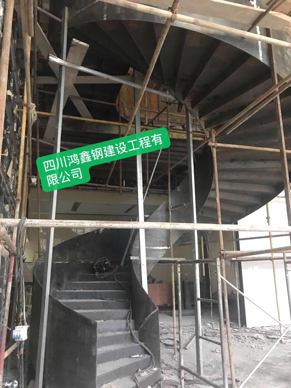 四川鸿鑫钢结构旋转楼梯