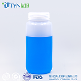 厂家直销USPVI级无酶免洗HDPE塑料瓶500ml本白广口试剂瓶化工瓶;