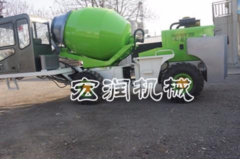 供应铰接式1.6立方混凝土搅拌车 混凝土自动上料小型搅拌车厂家