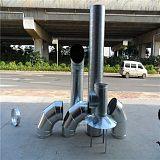 工业油烟净化工程镀锌管道 螺旋管道厂家报价;