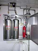 食堂煤气燃烧用什么灭火器、宝鸡厨房灶台气体灭火装置;