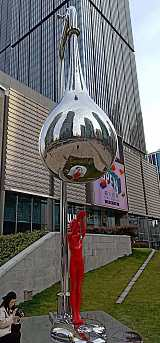 安庆不锈钢镜面水龙头雕塑 城市环保标识雕塑工程;