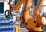 山东上下料工业机器人 自动包↓装箱码垛机;