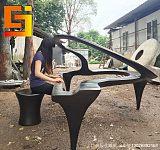 广州玻璃钢雕塑抽象雕塑钢琴弹奏家;