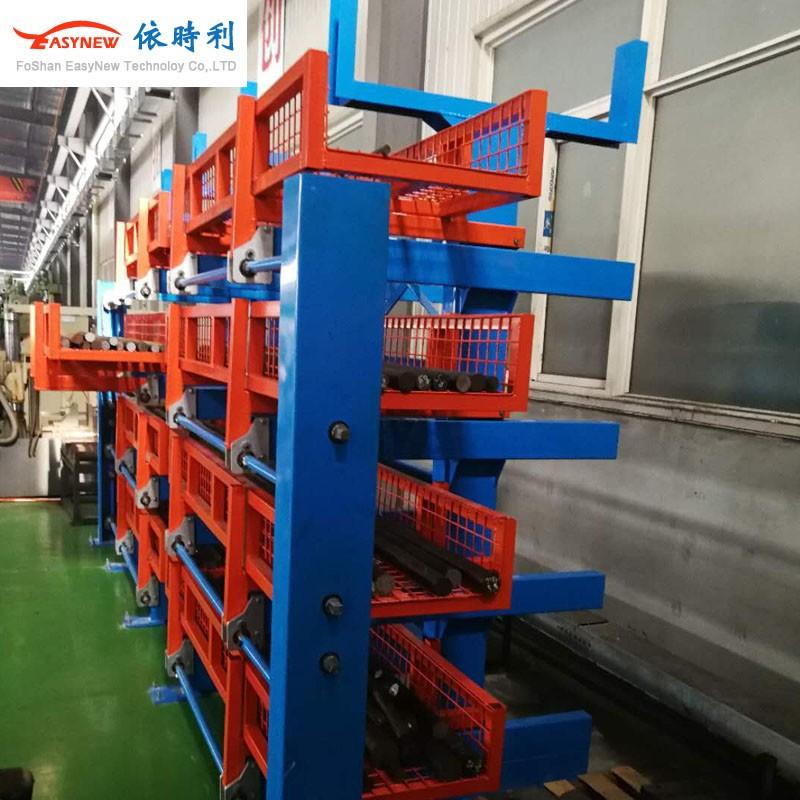 單層2噸承重管材伸縮懸臂貨架