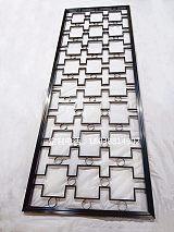不銹鋼黑鈦金屏風現代客廳鏤空定制花格隔斷雕花新玄關;