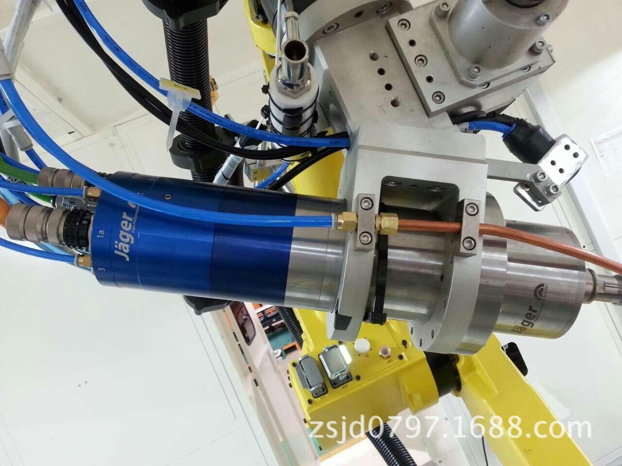 ABB机器人铣削切割雕刻去毛刺电主轴集成应用德国Jager高频主轴原装进口