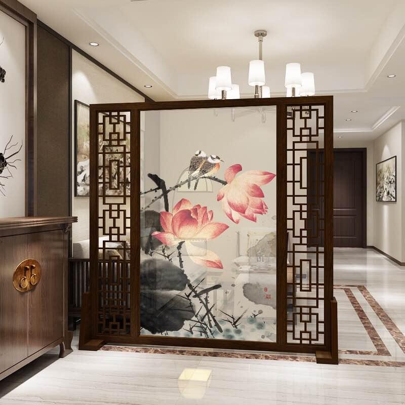 不锈钢屏风隔断钛金客厅玄关现代简约中式轻奢餐厅装饰屏风定制