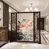 不锈钢屏风隔断钛金客厅玄关现代简约中式轻奢餐厅装饰屏风定制;