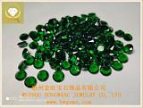 圆形10.0绿色玻璃 梧州宏旺宝石厂家批发*饰饰品裸石配件;