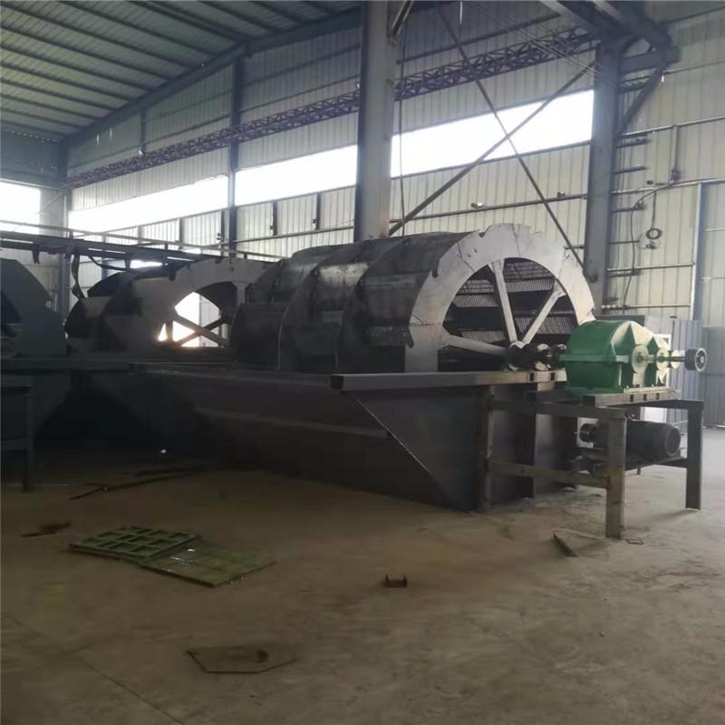廣西洗石粉洗砂機報價 定制四排水輪洗砂機價格