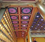 定制寺庙彩绘横梁佛堂天花板仿古装修材料地宫藻井;