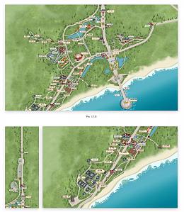 普通地圖手繪簡單手繪地圖游樂場手繪地圖申遺手繪地圖