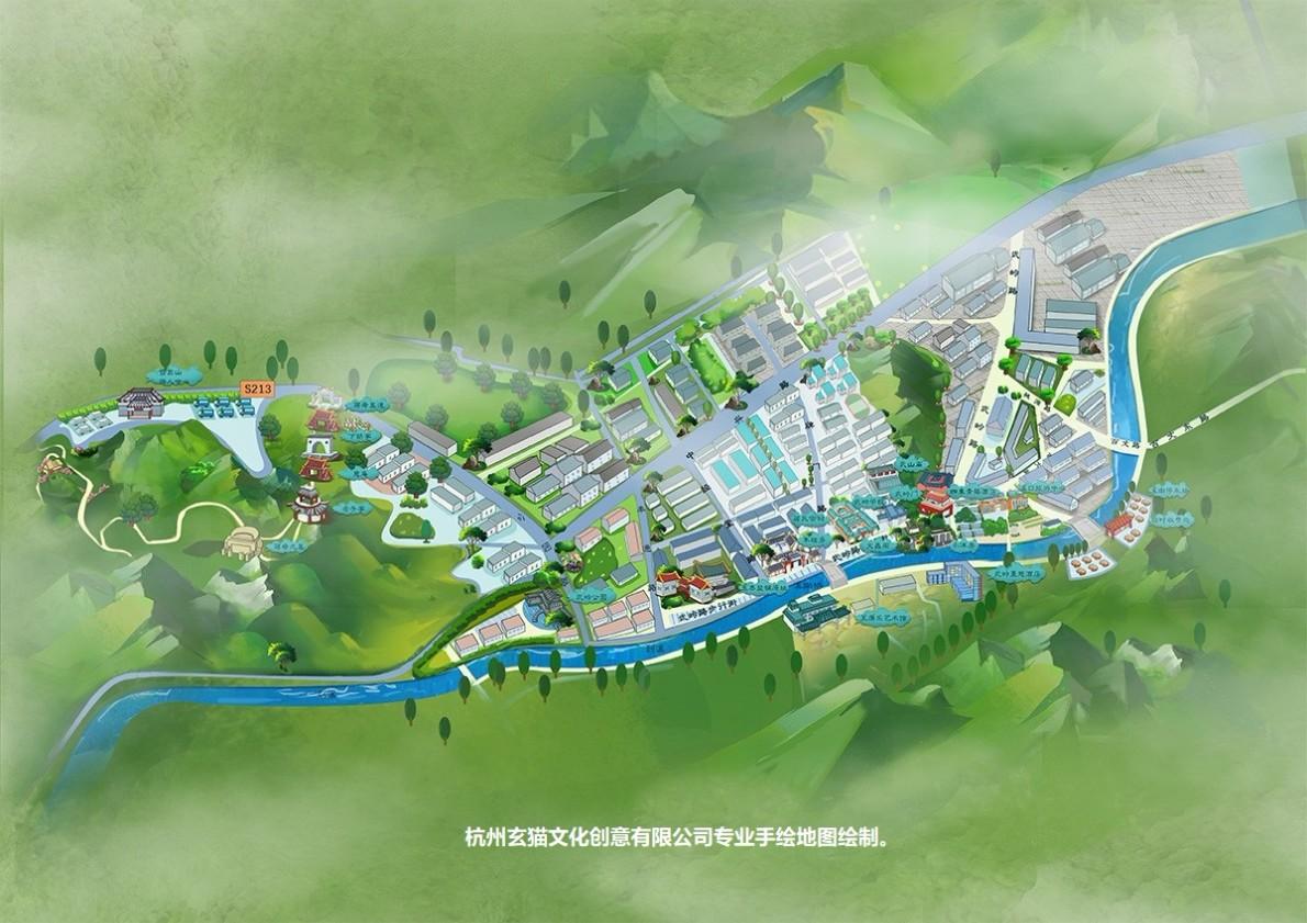 普通地图手绘简单手绘地图游乐场手绘地图申遗手绘地图