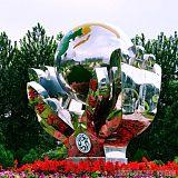 遼源工廠不銹鋼手捧地球雕塑 創意大型園林雕塑擺件