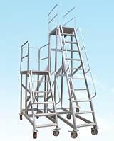 厂家供应重庆铝合金平台扶手梯/仓储货架梯/重庆移动登高平台梯;
