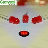 东莞稼晶电子直销F5红发红有边长脚高亮led发光二极管;