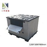 浙江厂家批发汽配可折叠塑料围板箱 可回收周转箱;