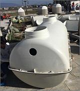 传统污水处理处理设备三格式化粪池+人工湿地