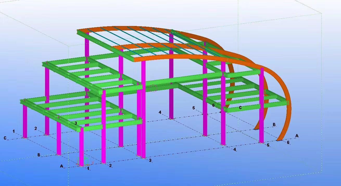 门式钢结构厂房-售楼部