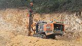 广西湖南江西志高掘进ZEGA一体全液压钻机T635石场工程爆破打孔施工;
