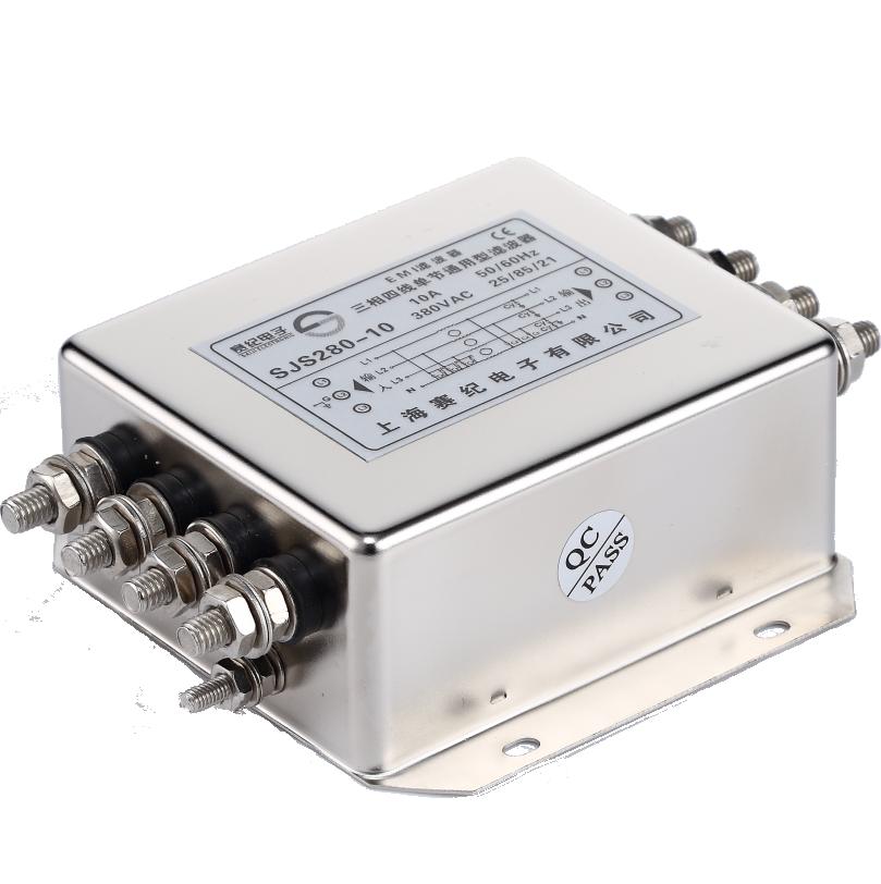 滤波器380无源emi三相四线单级交流大功率抗干扰模块低通