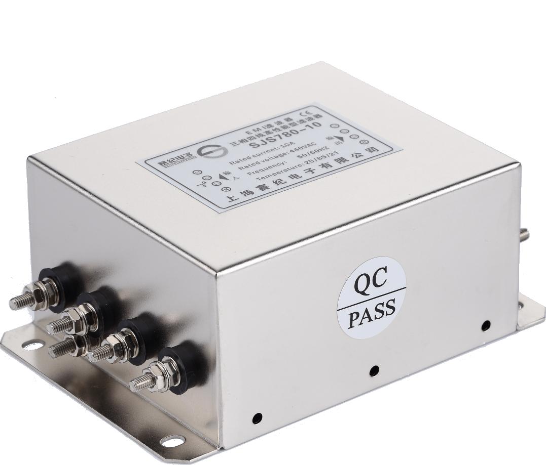赛纪电源滤波器380三相四线交流低通变频伺服抗干扰EMC净化器