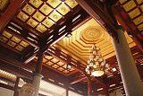 厂家直销中式彩绘横梁防火防潮铝合金吊顶板古寺庙天花;