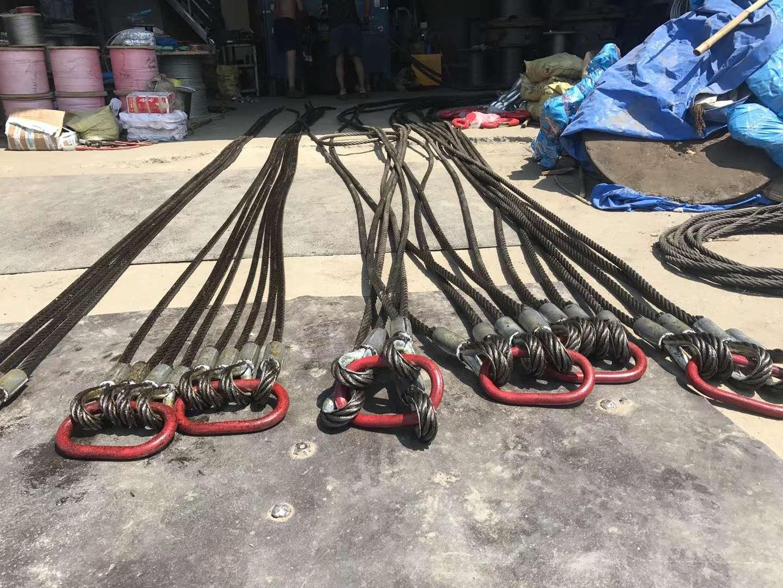 船用救生艇钢丝涂塑扶手钢丝压扣插编索具克令吊钢丝绳雷达桅杆绝缘钢丝