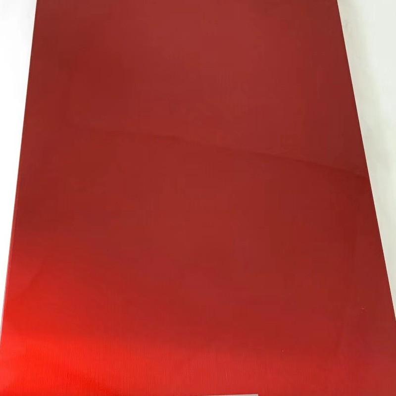 不锈钢烤漆板 不锈钢装饰板中国红定制
