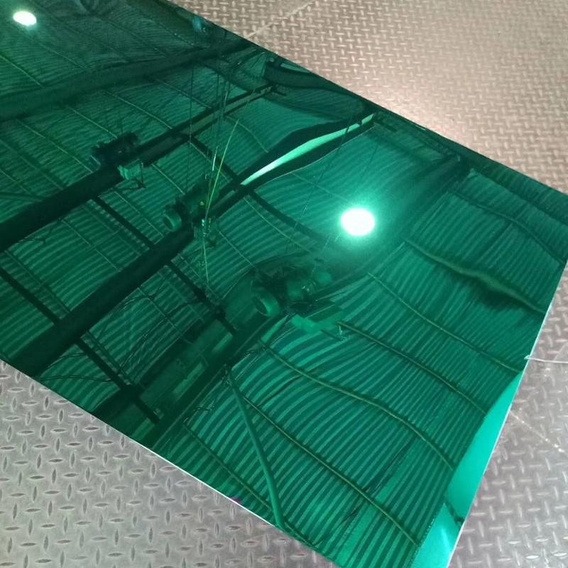 不锈钢镜面板 不锈钢镜面翡翠绿定制