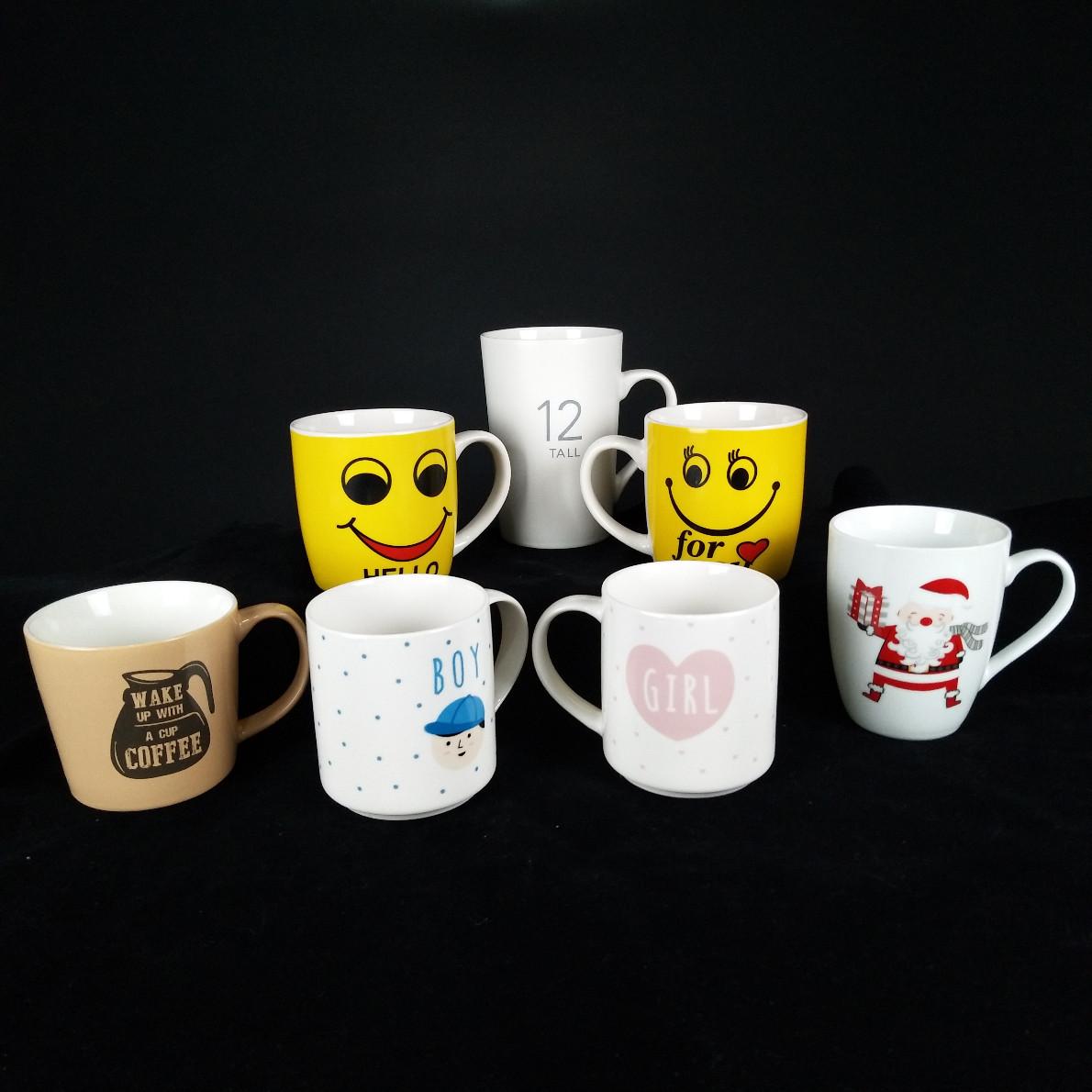 黑釉白釉陶瓷马克杯 定制创意logo杯 礼品赠送 广告促销陶瓷杯