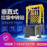 垂直压缩式垃圾中转设备 三缸四柱垂直式垃圾压缩中转设备