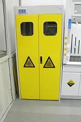 实验台全钢防爆气瓶柜 /可燃气体防爆柜 带报警 (单双瓶三瓶);