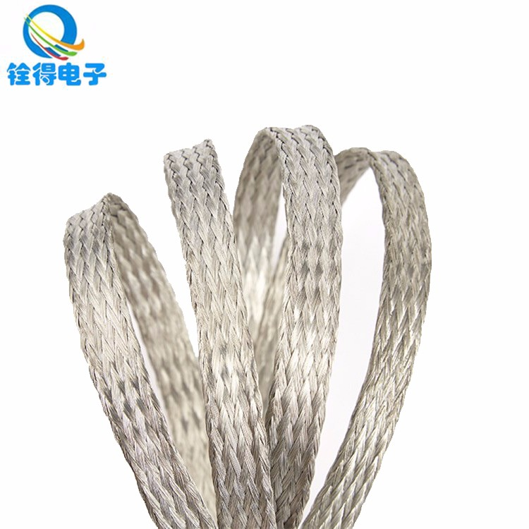 东莞铨得扁平线 镀锡铜编织屏蔽网 套线套管用编织网