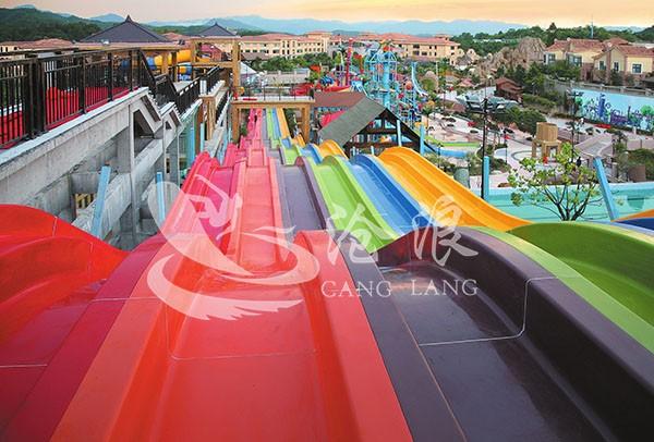 广州沧浪提供水滑梯设备-彩虹滑梯