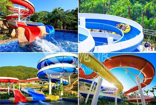 廣州滄浪提供水上滑梯-敞開螺旋滑梯