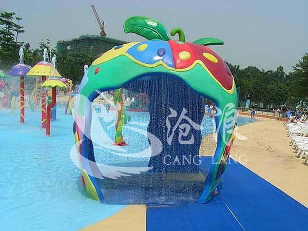 广州沧浪供应儿童水上乐园设备-戏水小品-苹果屋