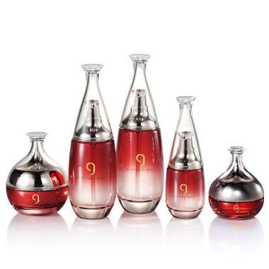 一叶子护肤品套装瓶子 化妆品玻璃瓶包材空瓶定制