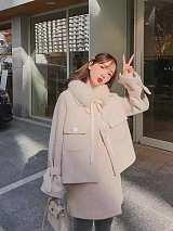 女神范套装冬季新款名媛气质俏皮洋气水貂绒网红套装裙;