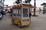 防腐木售货车实木餐车手推车可移动小吃车防腐木花车促销车售卖车;
