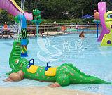 專業水上設備生產廠家供應 戲水小品 鱷魚戲水;