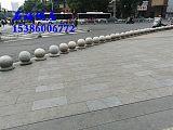 湖南衡阳芝麻灰路边挡车石球 公园小区门口止车石 石头圆球;