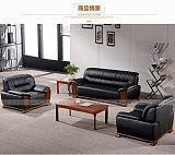 厦门厦门办公沙发茶几组合真皮传统会客沙发三人位简约;
